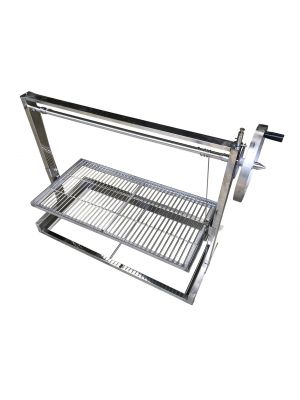 Built in Brick BBQ DIY Cooking Grill with Argentinian Adjustable Heights -112cm