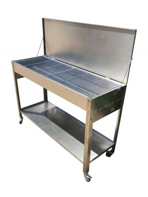 Extra Large Zodiac Stainless Steel Charcoal BBQ