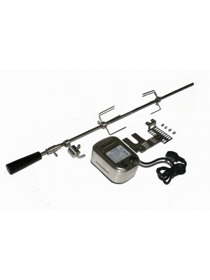 Stainless Rotisserie Kit with SS Electric Motor