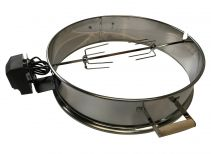 Charcoal BBQ Kettle Rotisserie Spit Ring in Stainless Steel